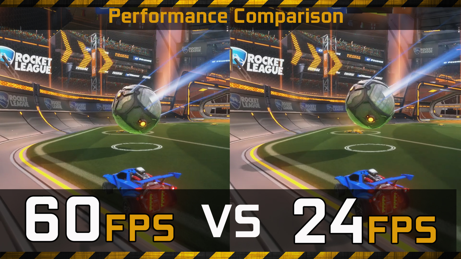 60 FPS (Gaming) vs 24 FPS (Movies) Gaming Performance Comparison ...