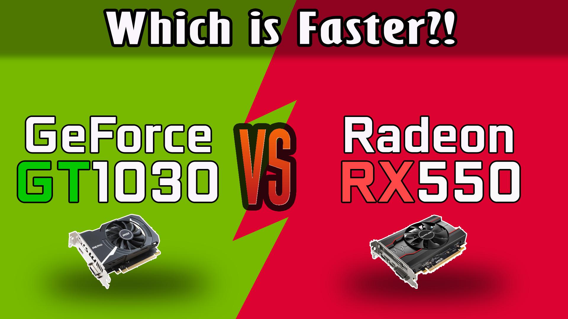 GeForce GT 1030 vs Radeon RX 550 Test in 8 Games (Core i3-4130